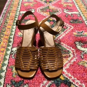 Madewell Willa wooden heeled sandals